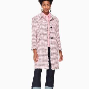 Kate spade multi tweed coat NEW size 8